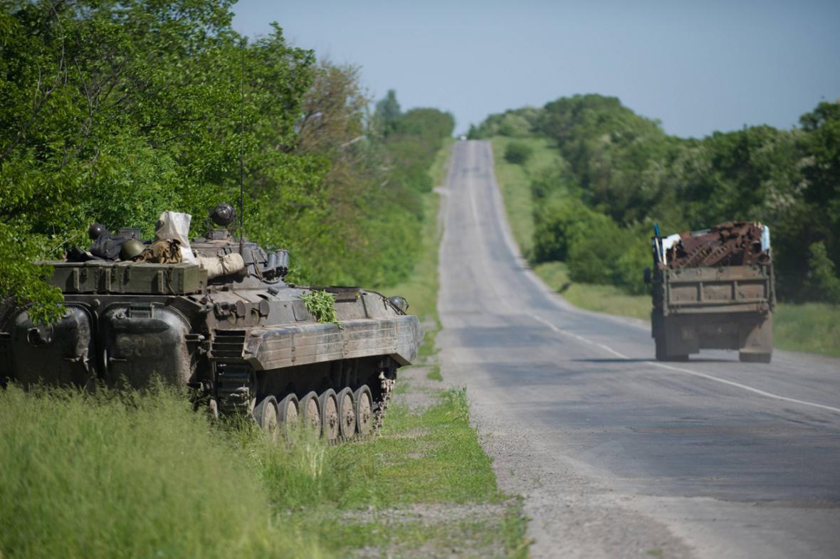 Armádní kontrolní stanoviště u Doněcku