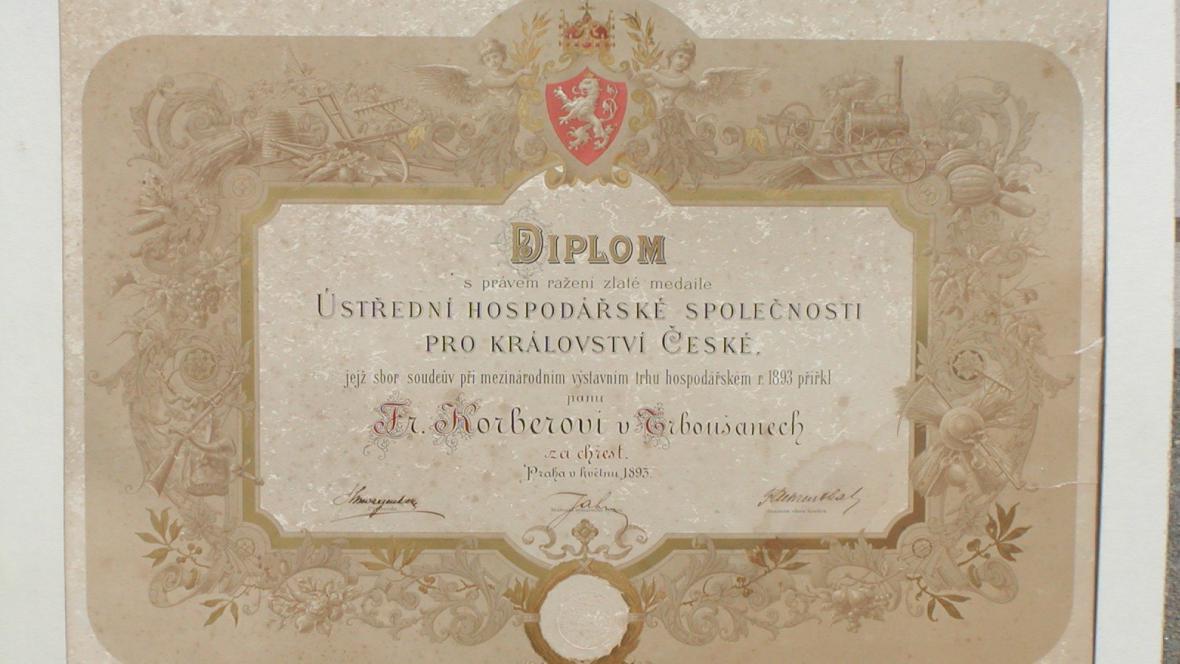 Diplom pro chřest z Trboušan