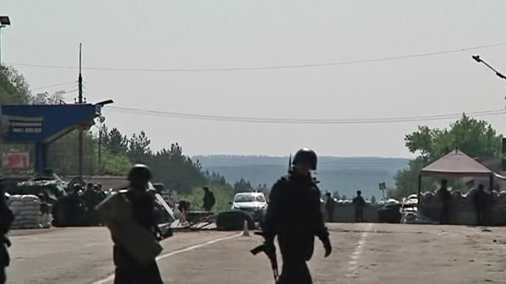 Hlídky na předměstí Slavjansku