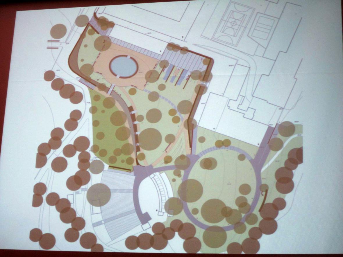 Z besedy o architektonickém řešení parku v Boskovicích
