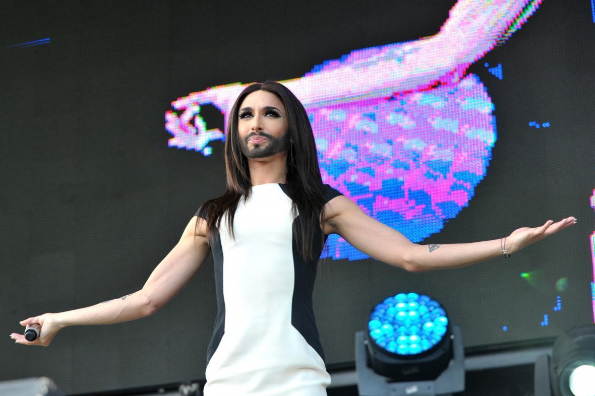 Conchita Wurst zahrála ve Vídni