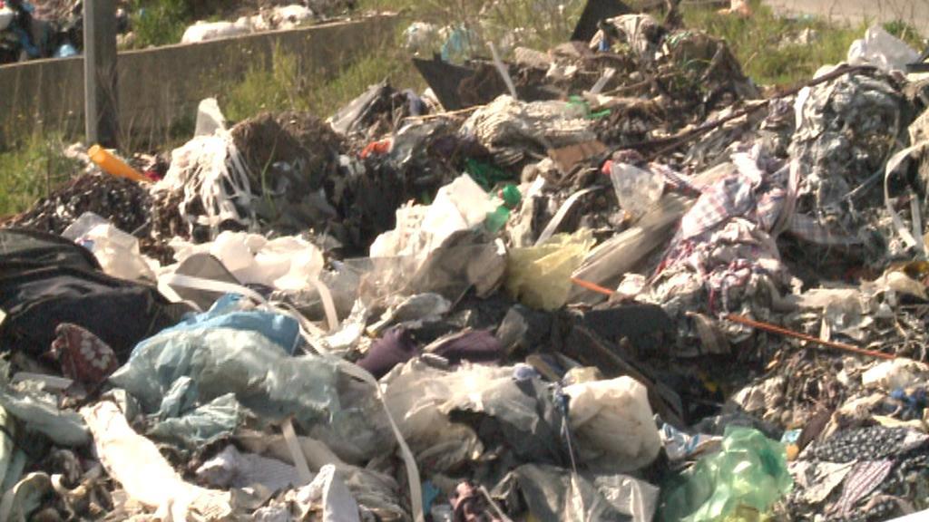 Odpadky v okolí Neapole