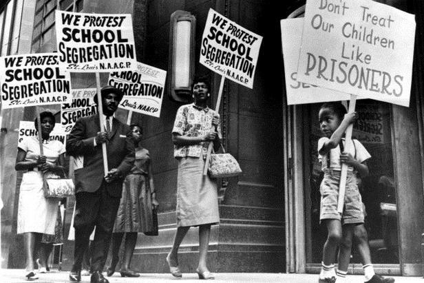 Protest černochů proti segregaci na školách