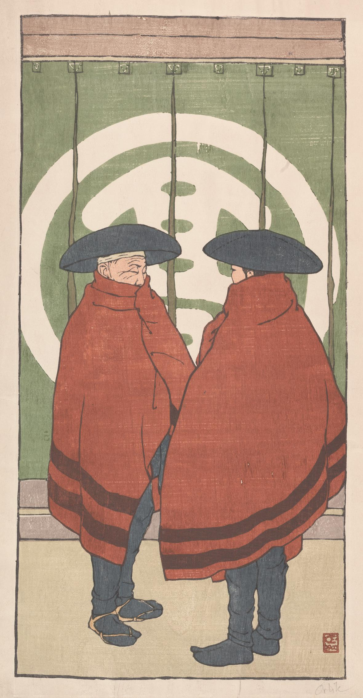 Emil Orlik / Dva Japonci, 1900