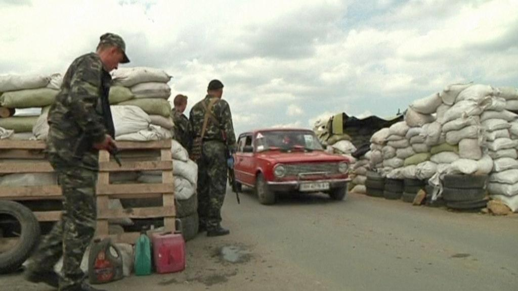 Kontrolní stanoviště ukrajinské armády na východě země