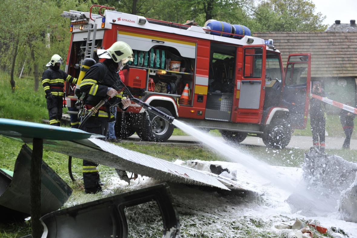 Cvičení záchranářů v Bílých Karpatech