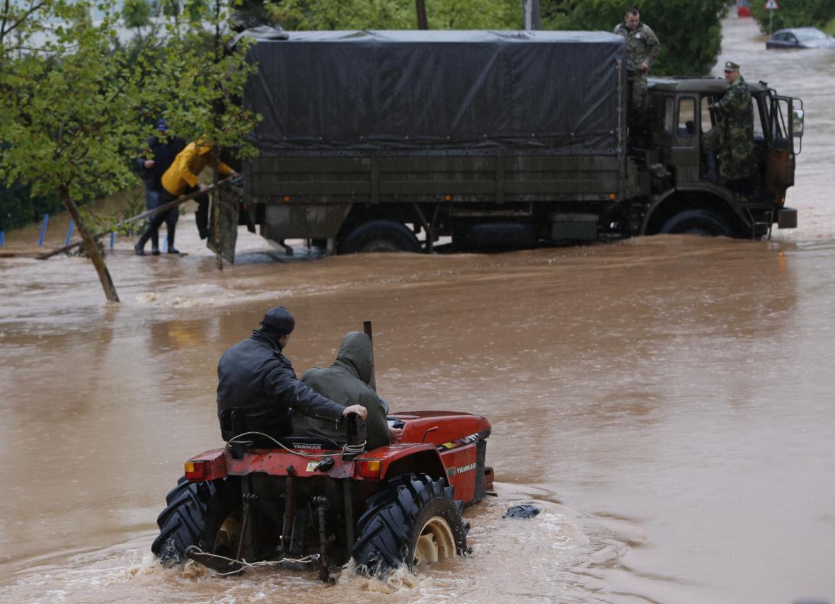 Záplavy zasáhly Bosnu a Hercegovinu
