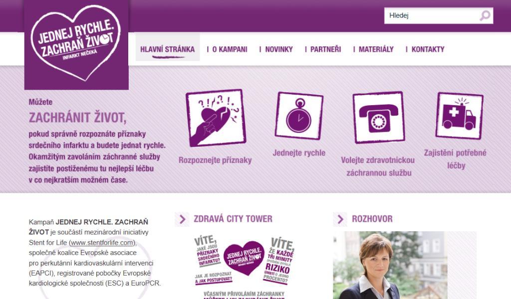 Stránky kampaně