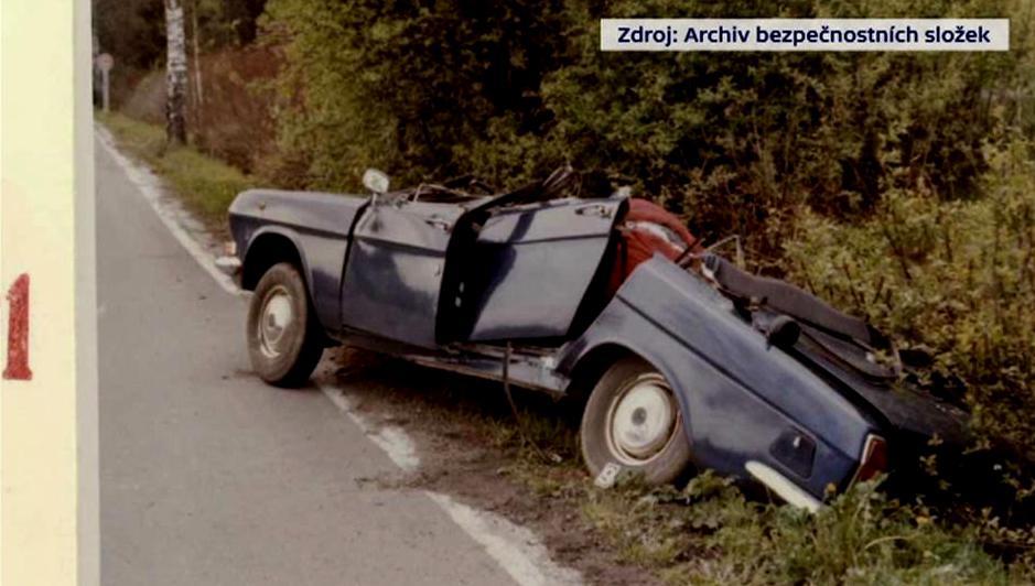 Nehoda, při níž zemřel Kevin Strecker
