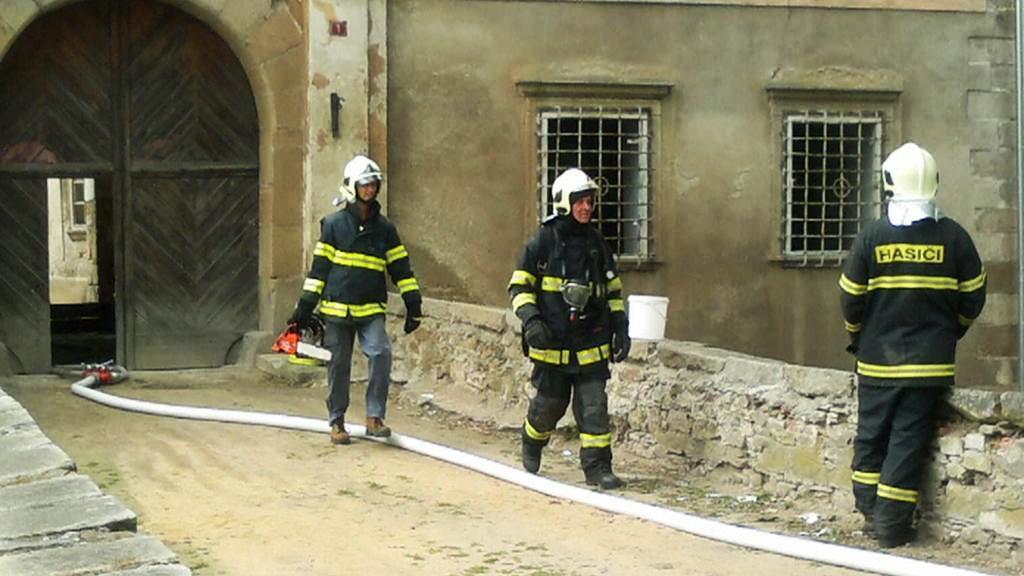 Požár zámku v Červené Řečici