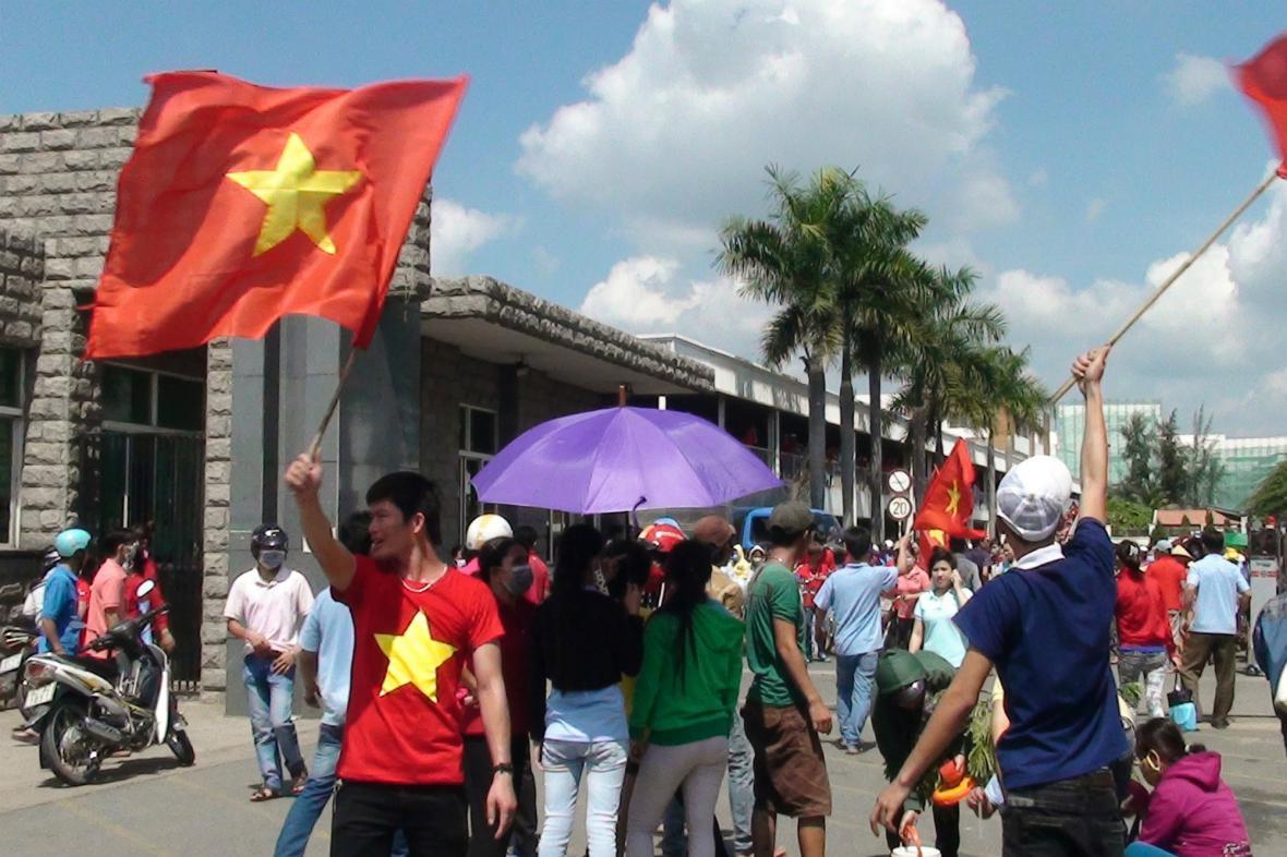 Vietnamci protestují proti čínským firmám