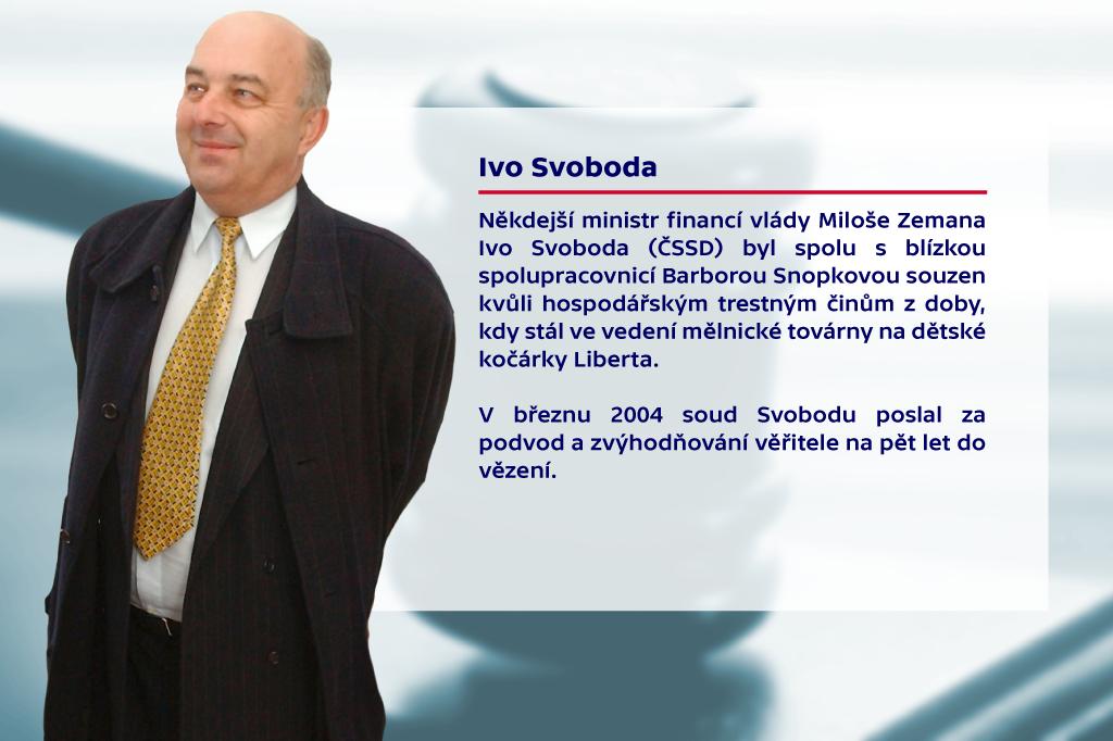 Politici u soudu – Ivo Svoboda