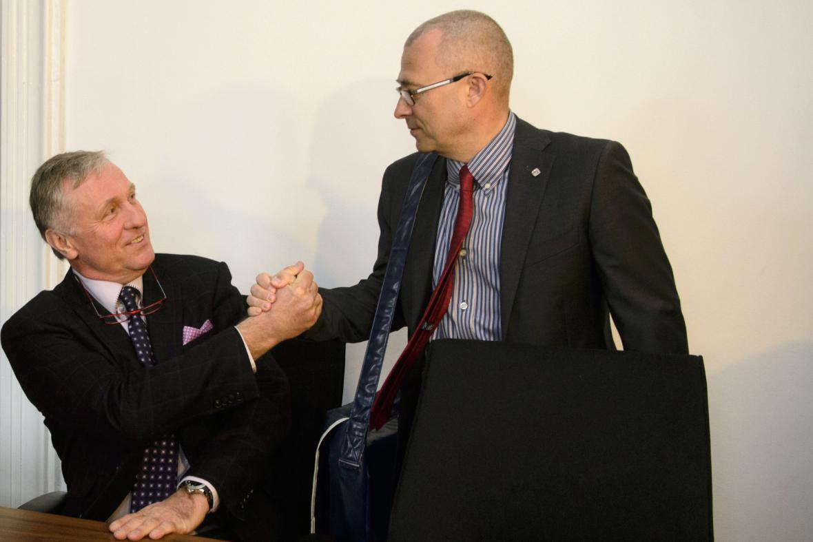 Mirek Topolánek a Martin Barták