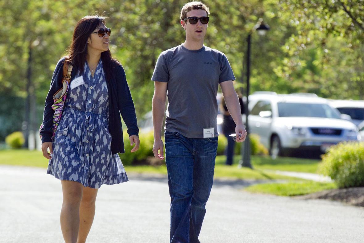 Mark Zuckerberg s manželkou