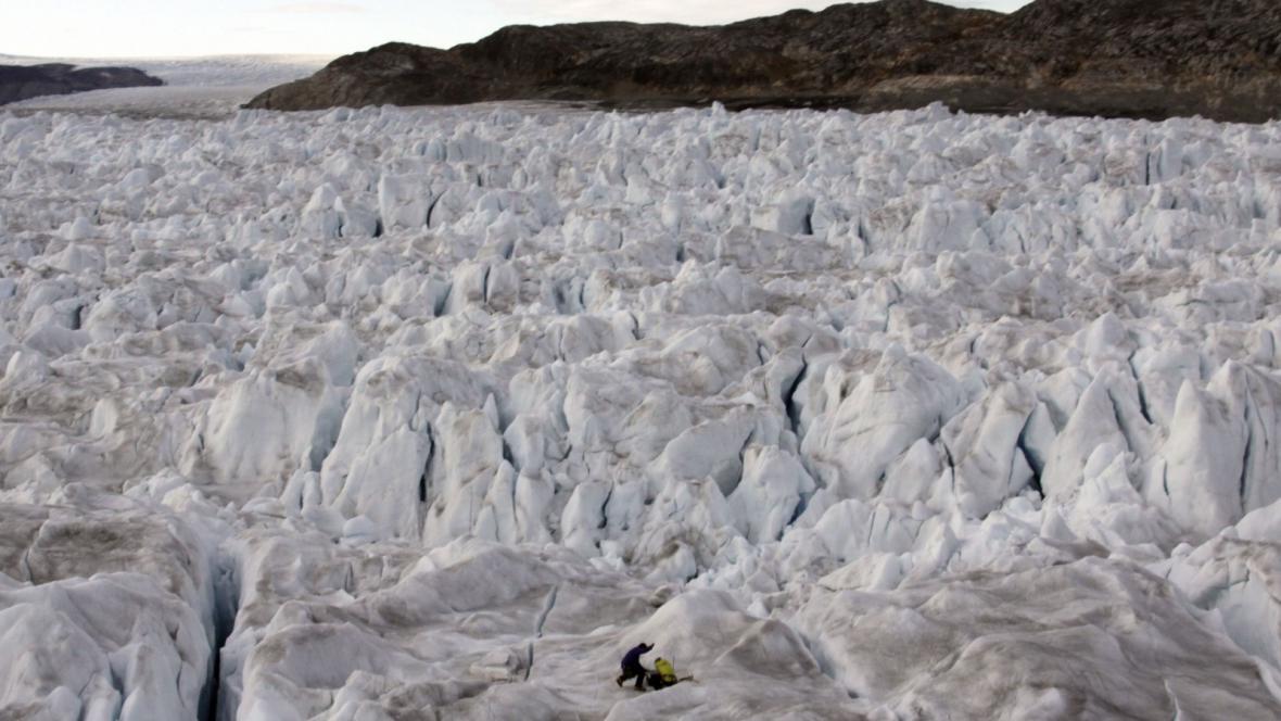 Ledovec Helheim v Grónsku