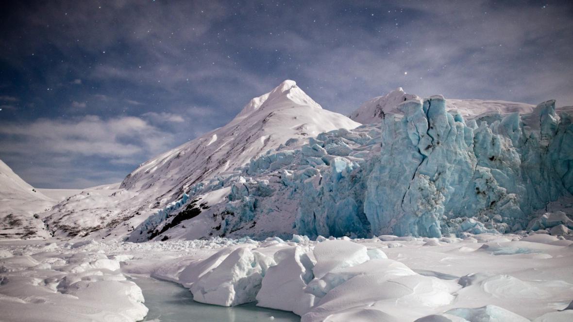 Ledovec Portage na Aljašce