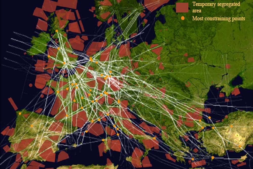 Letový provoz nad Evropou