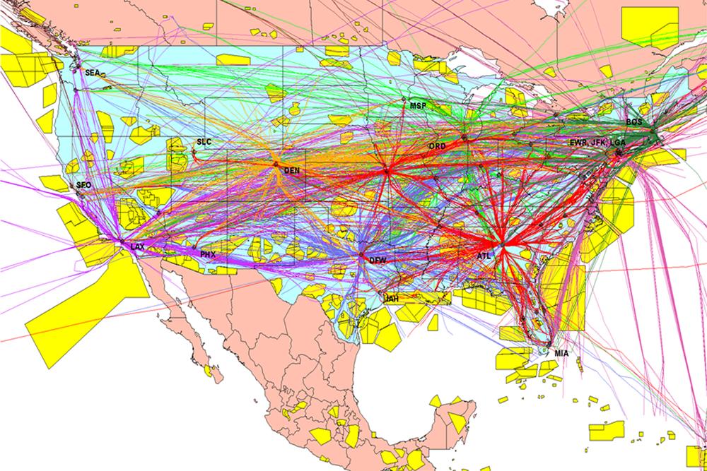 Letový provoz nad USA