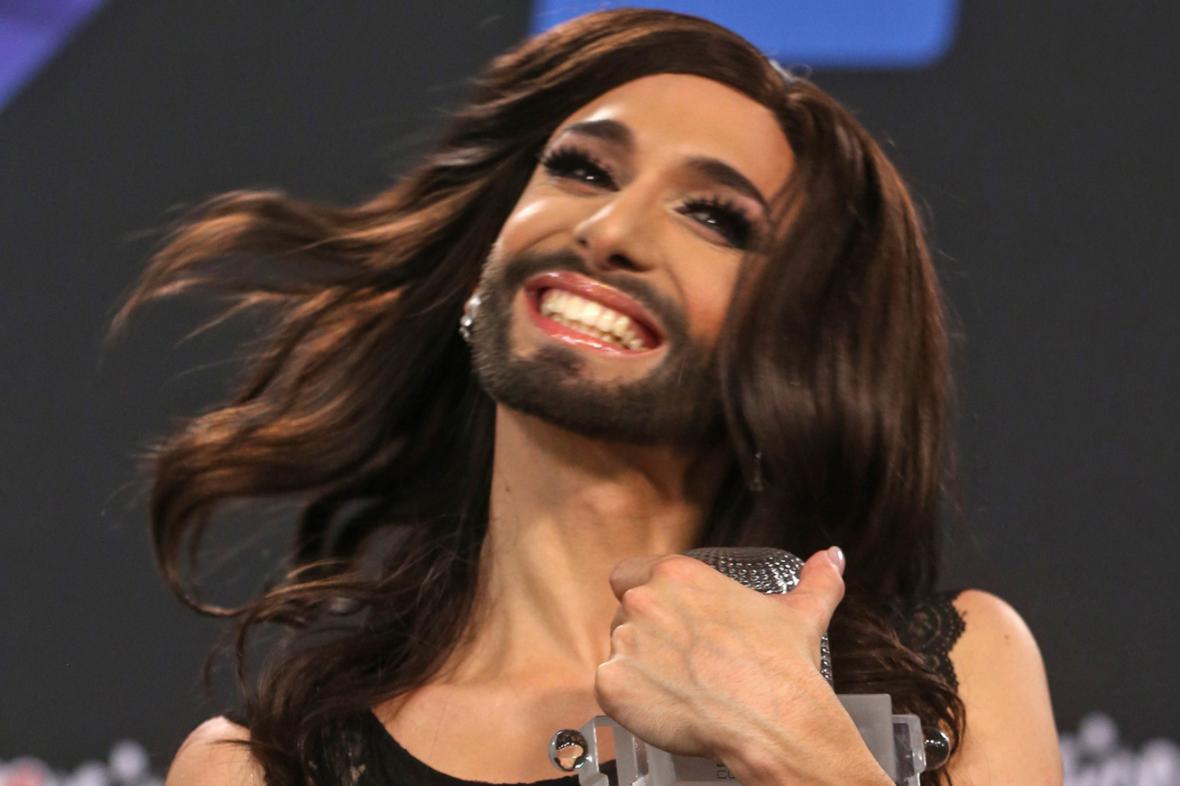 Conchita Wurst po vítězství v Eurovizi