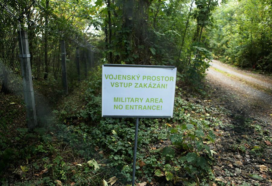 Plot vojenského prostoru a podzemního krytu v Prokopském údolí