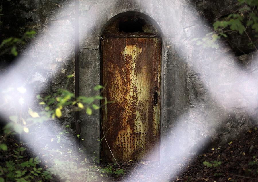 Boční vstup do podzemí v Prokopském údolí