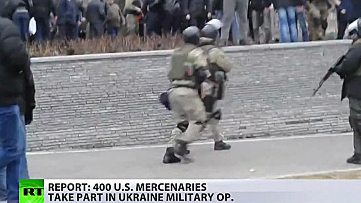 Údajné záběry amerických žoldnéřů v Doněcku