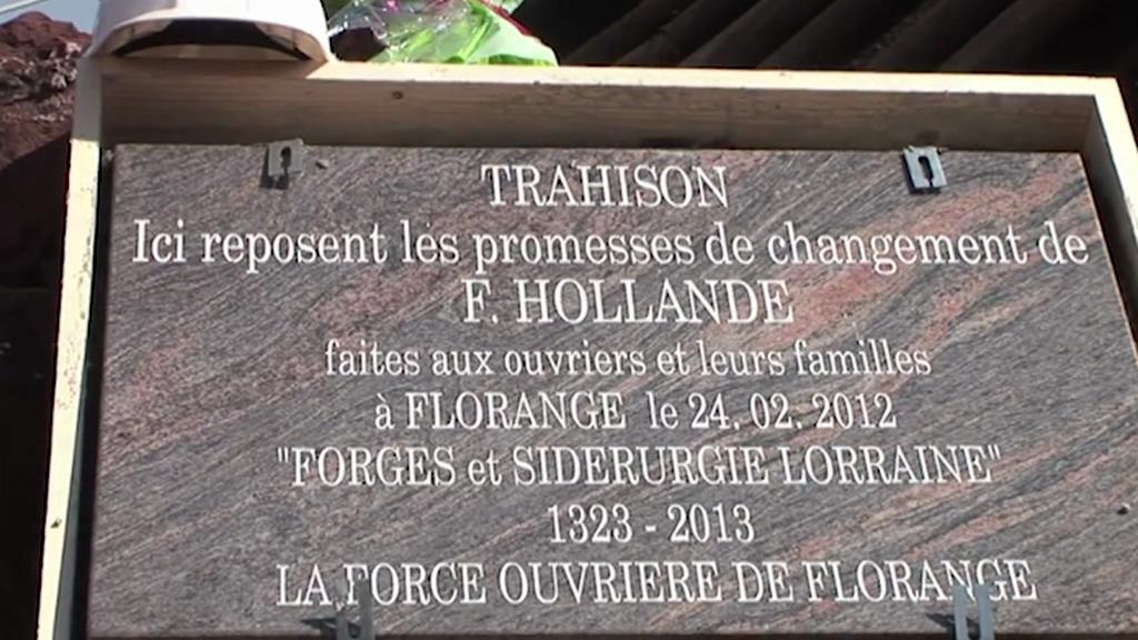 Pomník slibů prezidenta Hollanda