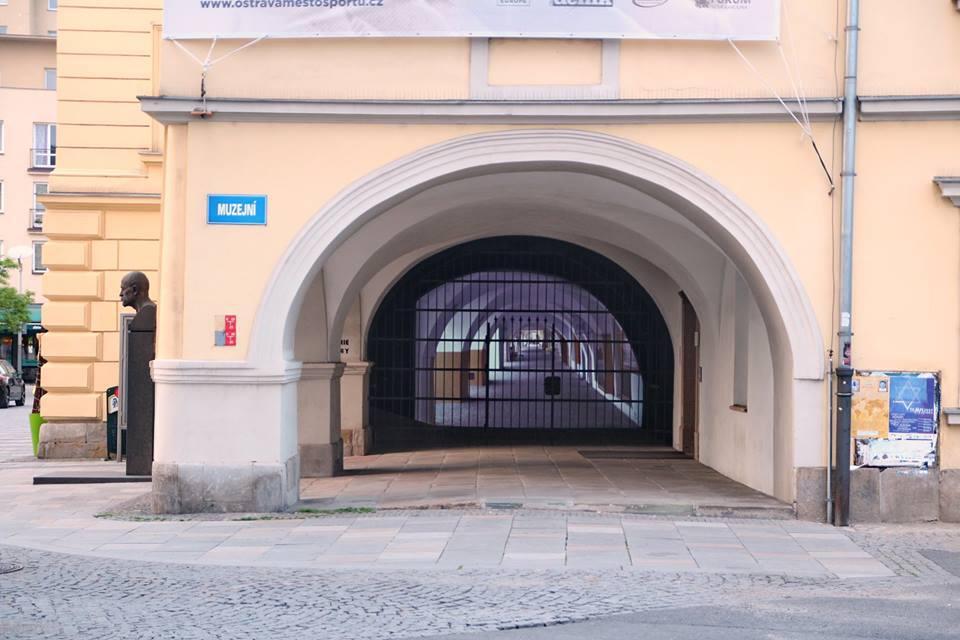 Videoprojekce laubů v Ostravě