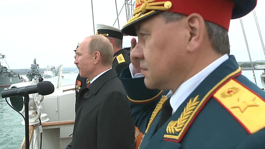 Vladimir Putin v Sevastopolu