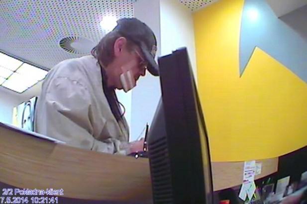Muž, který přepadl banku v Praze