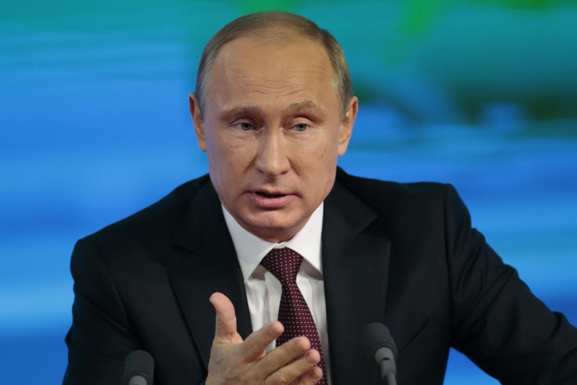Vladimir Putin na bilanční tiskové konferenci