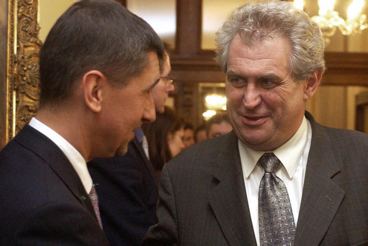 Andrej Babiš (ANO) a prezident Miloš Zeman