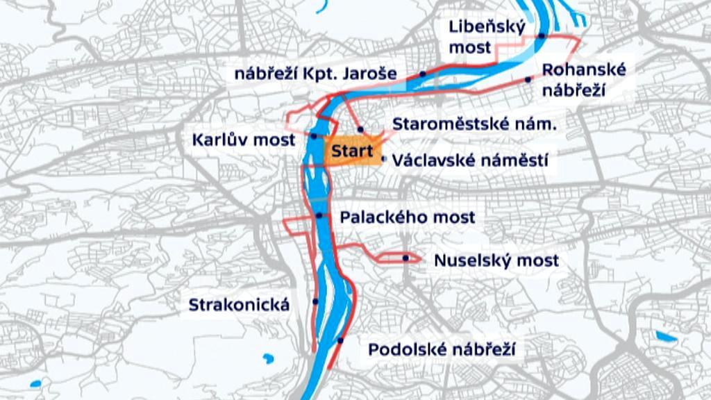 Mapa maratonu