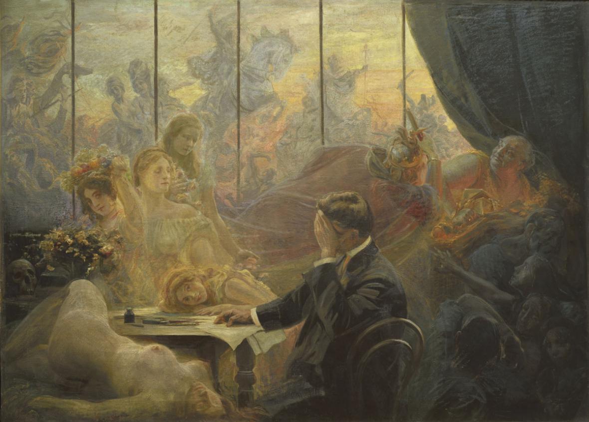 Emil Holárek / Umělcův sen, kolem 1900