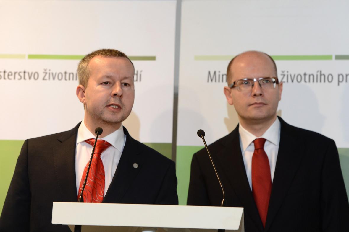 Richard Brabec a Bohuslav Sobotka