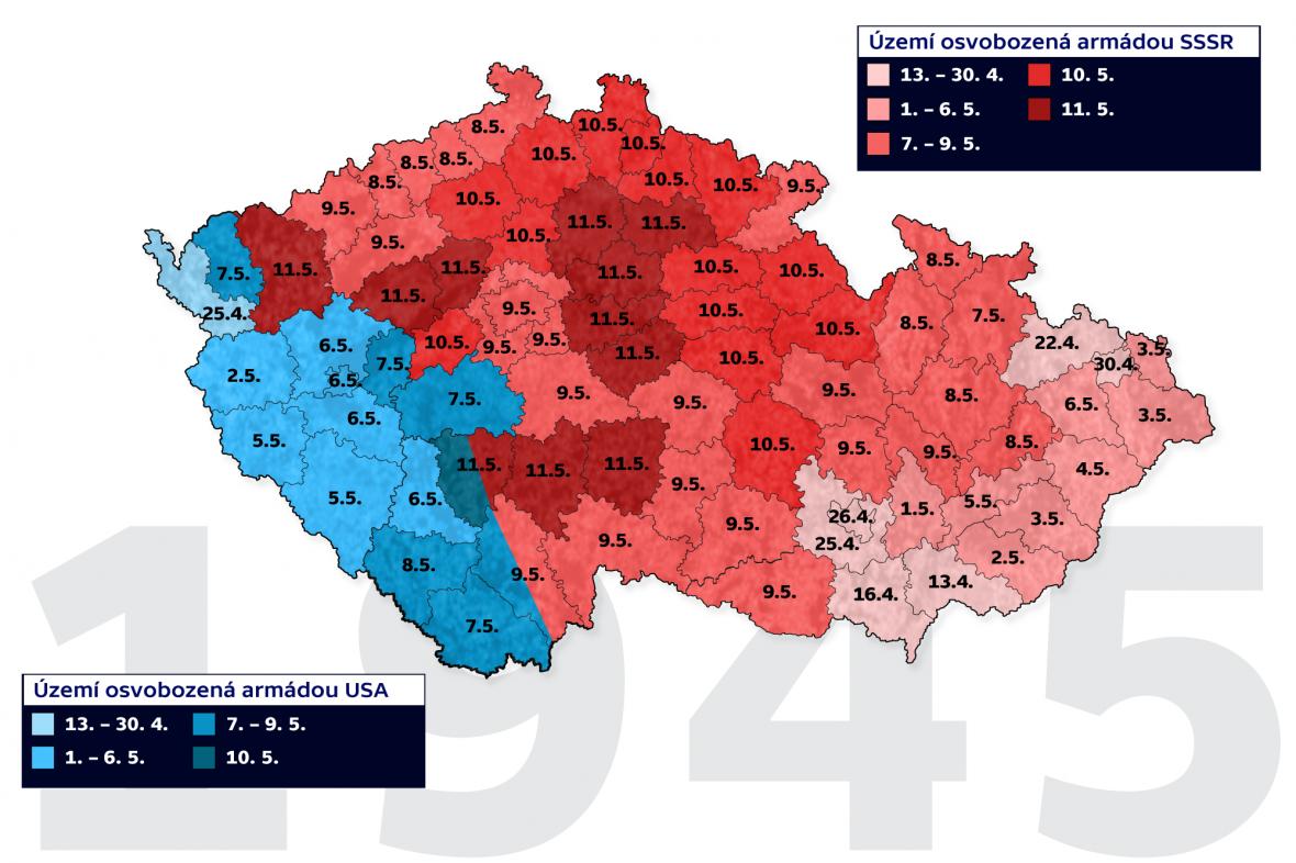 Průběh osvobození Českých zemí