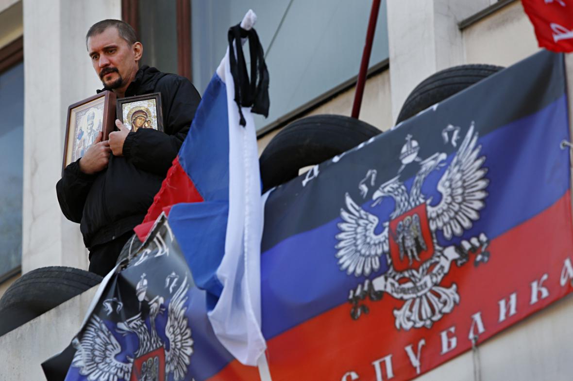 Proruský aktivista v Mariupolu