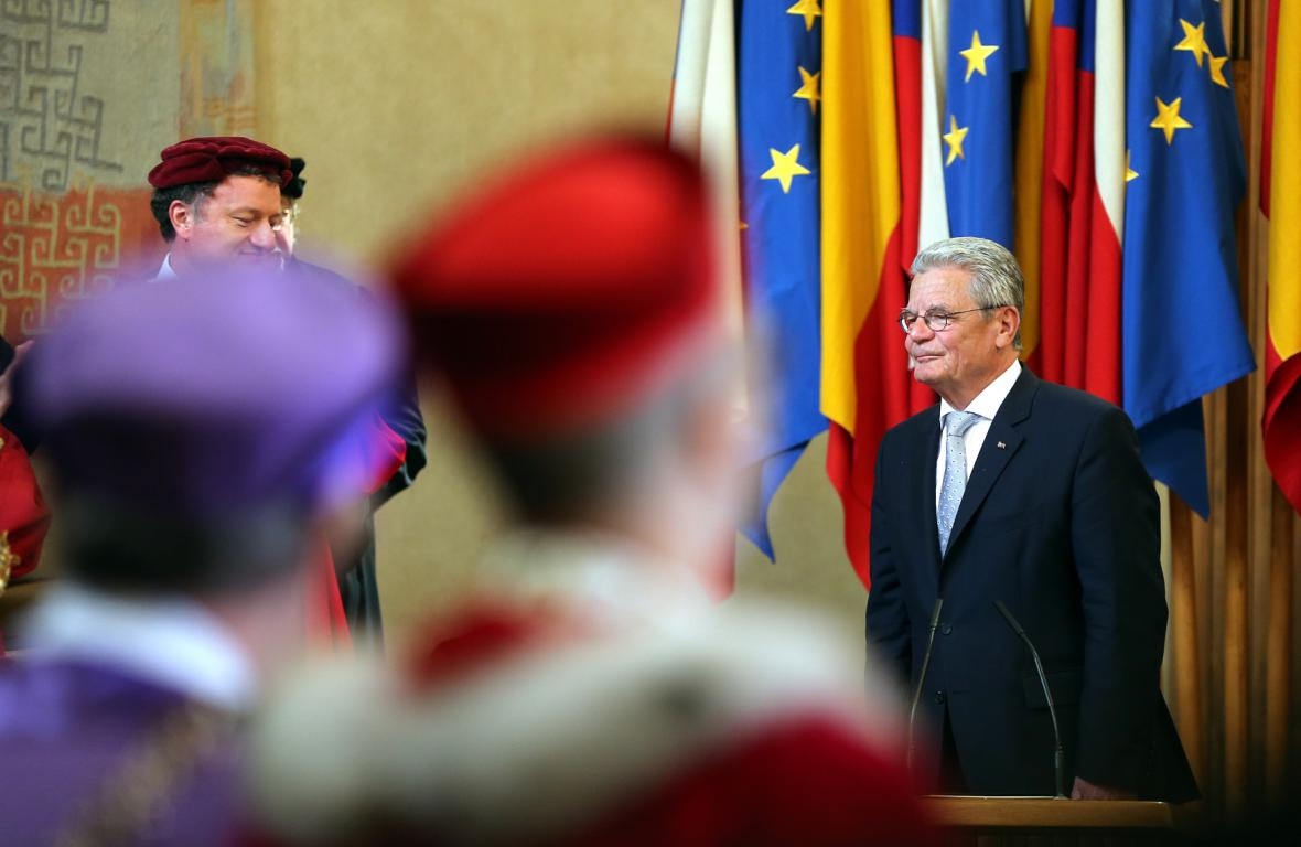 Německý prezident Joachim Gauck v Karolinu