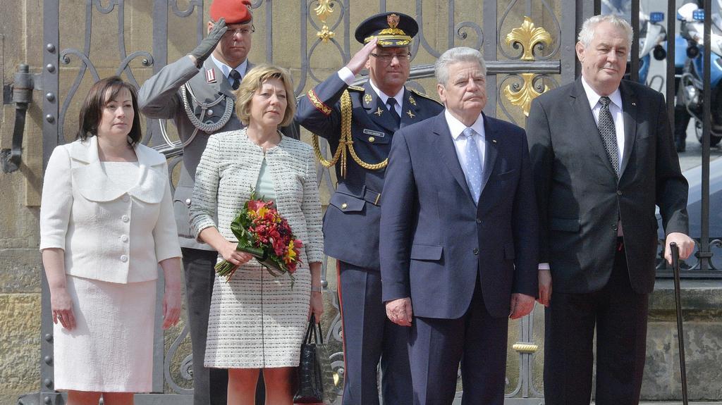 Uvítání prvního páru Německa na Pražském hradě