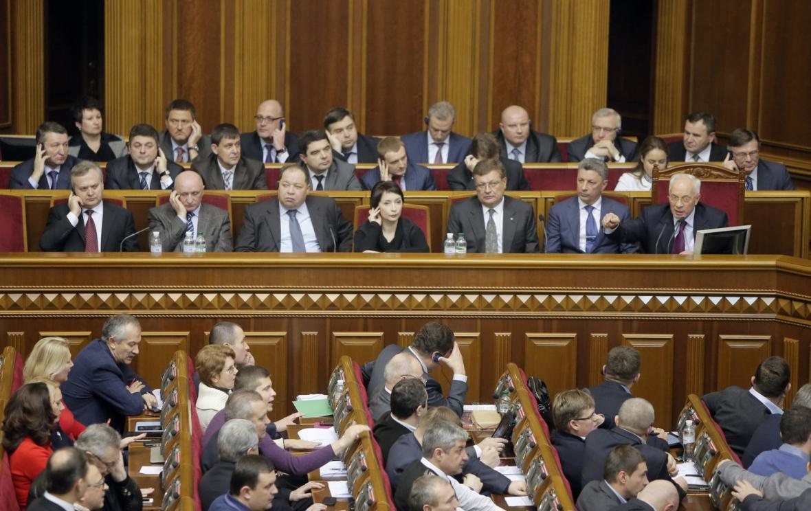Jednání ukrajinského parlamentu