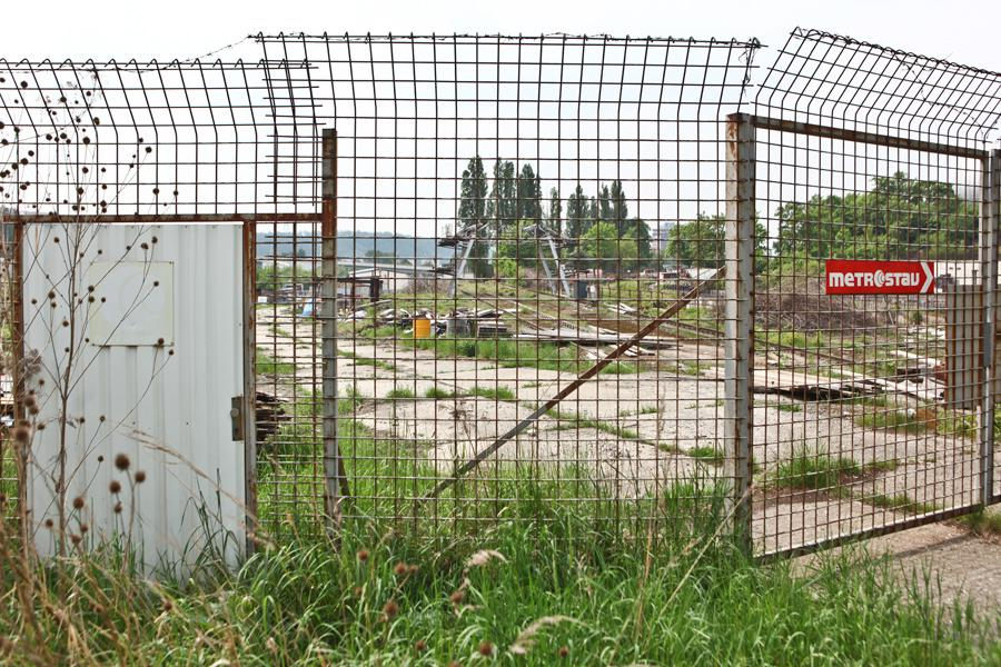 Nedokončená stavba technického centra na Palmovce