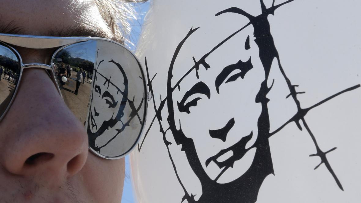 Protest proti vládě Vladimira Putina