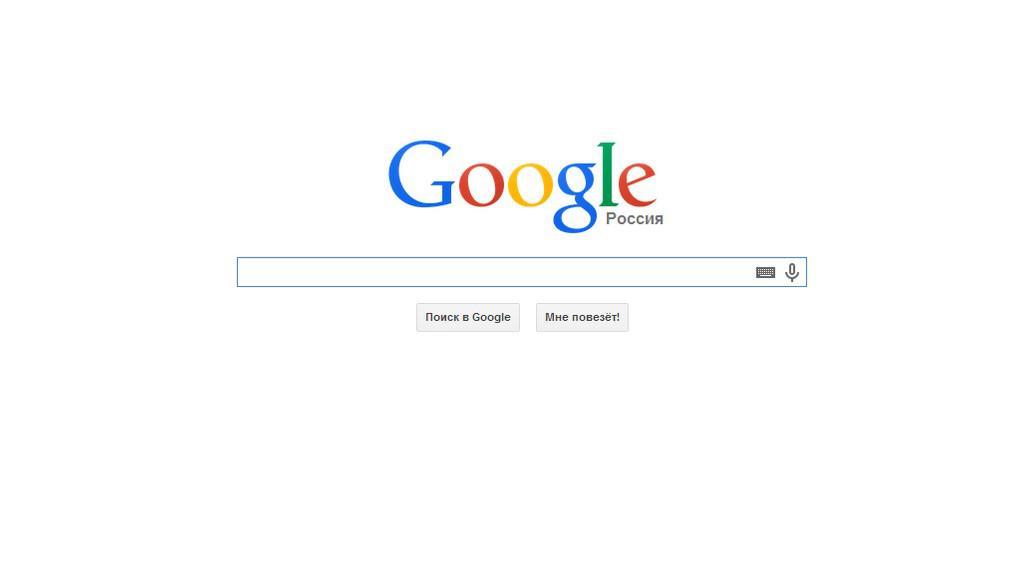 Google v ruštině