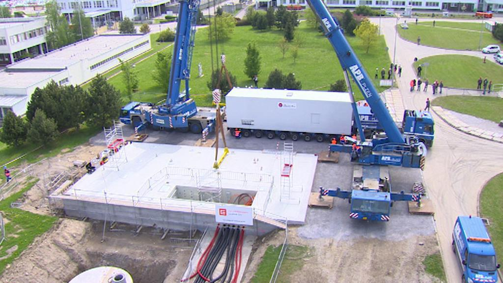 Temelín instaluje nový záložní dieselgenerátor