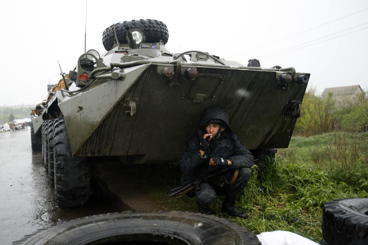 Ukrajinská armáda u Slavjansku