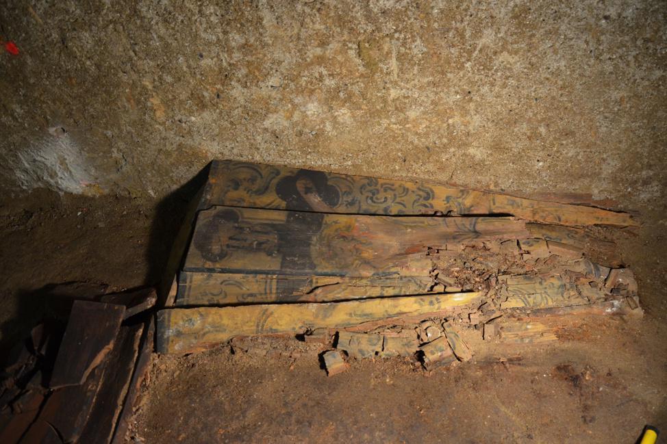 Nález barokních rakví v brněnské kostnici