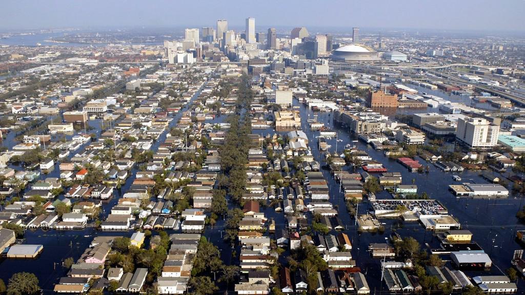 Hurikán Katrina způsobil v New Orleans záplavy