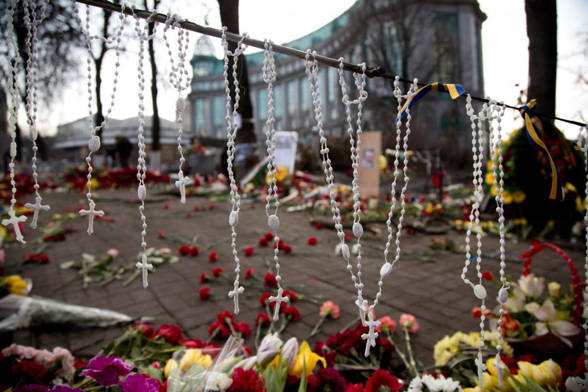 Růžence na kyjevském Majdanu