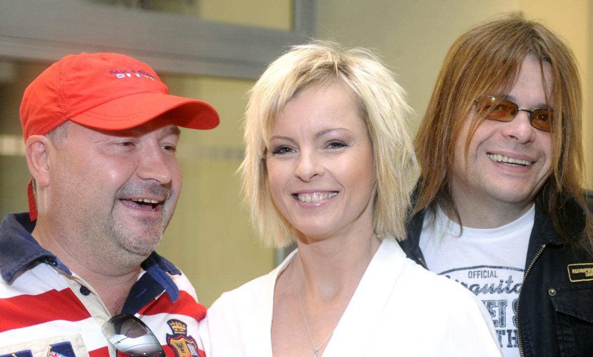 Michal David, Iveta Bartošová a Bohouš Josef (rok 2008)