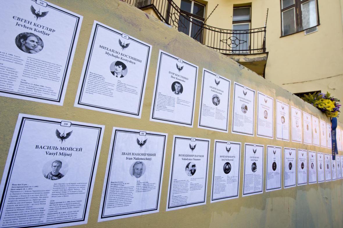 Parte za padlé Ukrajince v pražských Vršovicích